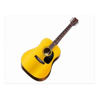 アコースティックギター、楽器、音楽 ポストカード