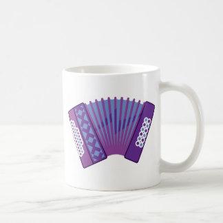 アコーディオンのベクトル コーヒーマグカップ