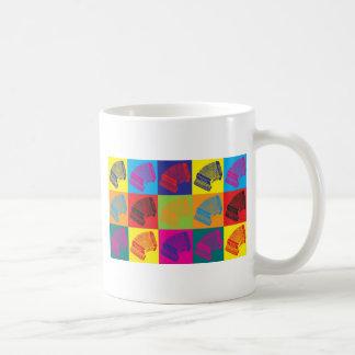 アコーディオンのポップアート コーヒーマグカップ
