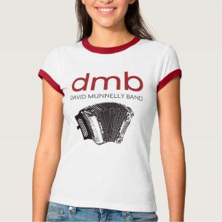 アコーディオンの女性とのデイヴィッドMunnellyバンドロゴ Tシャツ