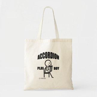 アコーディオンの演劇の男の子 トートバッグ