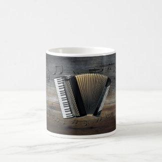アコーディオンの~の音階の~のBarnwoodの背景 コーヒーマグカップ