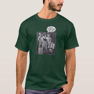 アコーディオンのAmazoniansの軍隊 Tシャツ