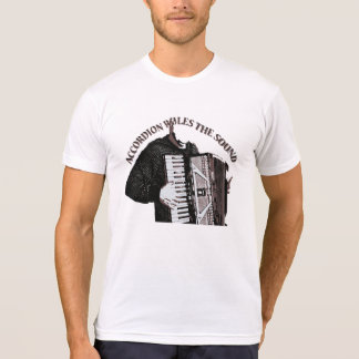 アコーディオンは音を支配します Tシャツ