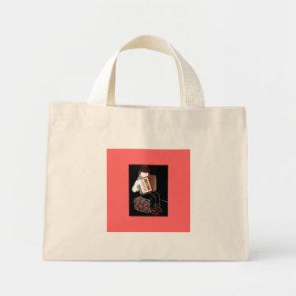 アコーディオンを持つ子供 ミニトートバッグ
