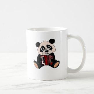 アコーディオンを遊んでいるおもしろいなパンダくま コーヒーマグカップ