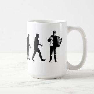 アコーディオンプレーヤーのマグ コーヒーマグカップ