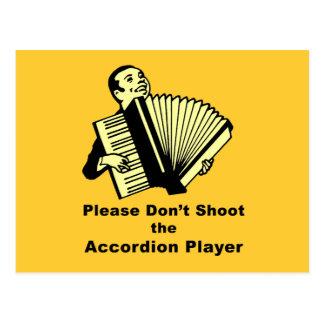 アコーディオンプレーヤーを撃たないで下さい ポストカード