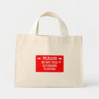 アコーディオンプレーヤーを食べ物を与えないで下さい ミニトートバッグ
