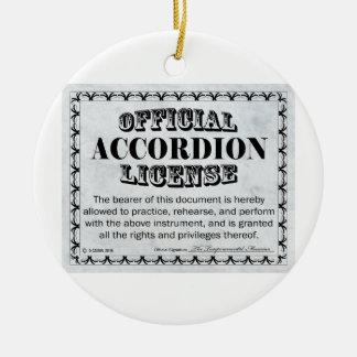 アコーディオン免許証 セラミックオーナメント