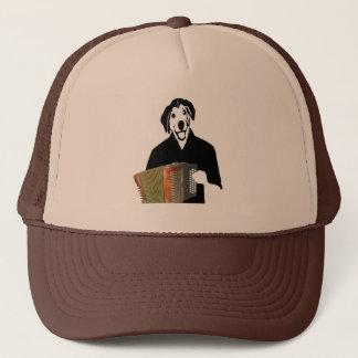 アコーディオン犬プレーヤーのおもしろいなケージャン音楽トラック運転手の帽子 キャップ