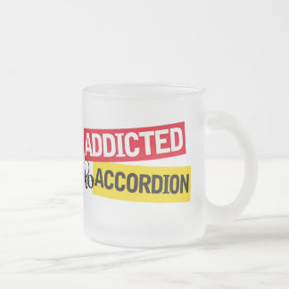 アコーディオン音楽ギフトに熱中される フロストグラスマグカップ