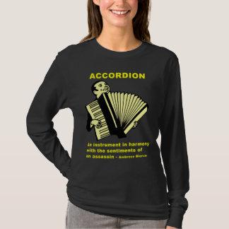 アコーディオン: 楽器… (おもしろいな引用文!) Tシャツ