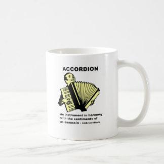 アコーディオン(滑稽に定義される) コーヒーマグカップ