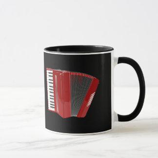 アコーディオン: 赤いアコーディオン マグカップ