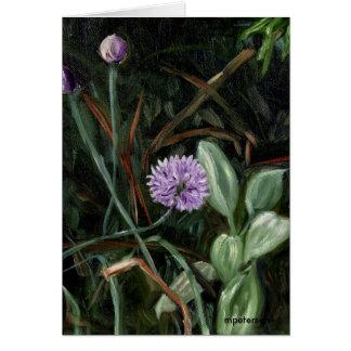 アサツキの花 カード