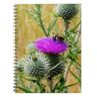 アザミのノートの蜂 ノートブック