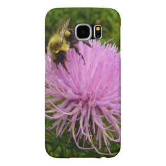 アザミの花の蜂 SAMSUNG GALAXY S6 ケース