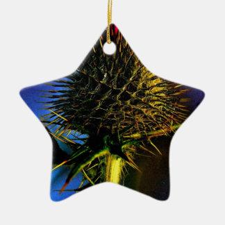 アザミ 陶器製星型オーナメント