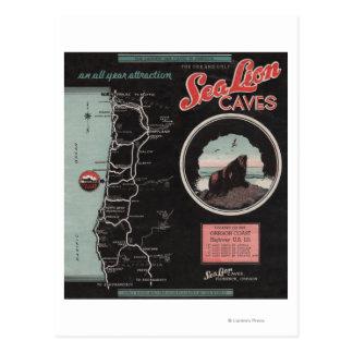 アシカの洞窟、フィレンツェ、オレゴン はがき