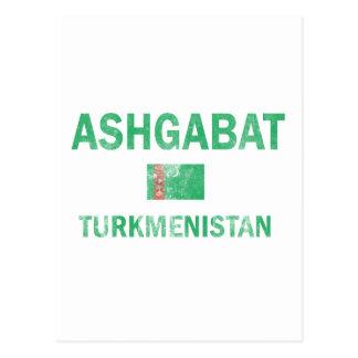 アシガバートタキマンニスタンのデザイン ポストカード