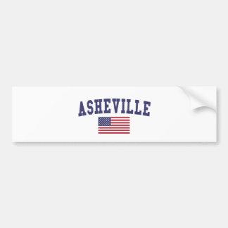 アシュビル米国の旗 バンパーステッカー
