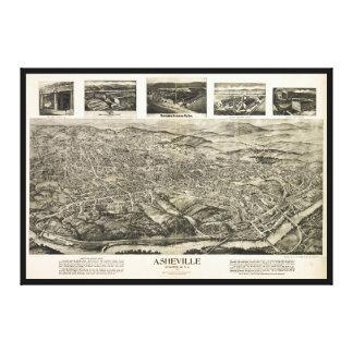 アシュビル、ノースカロライナ(1912年)の空中写真 キャンバスプリント