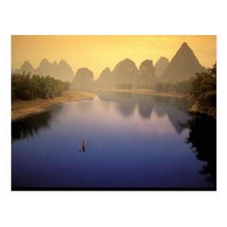 アジアの中国、広西の地域、Yangshuo。 単独 ポストカード