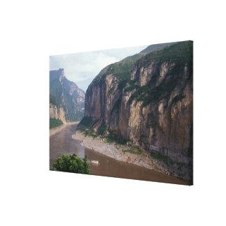 アジアの中国、揚子江、三峡。 キャンバスプリント