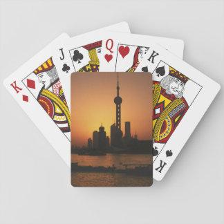 アジアの中国、東洋の真珠TVの上海の眺め トランプ