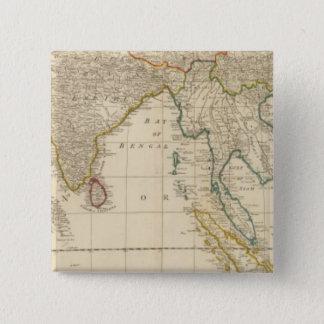 アジアの中間 5.1CM 正方形バッジ