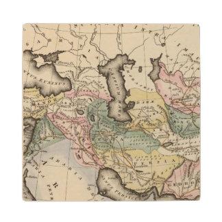 アジアの地図書の地図 ウッドコースター