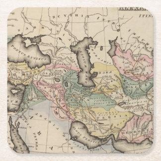 アジアの地図書の地図 スクエアペーパーコースター