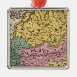 アジアの地図 メタルオーナメント