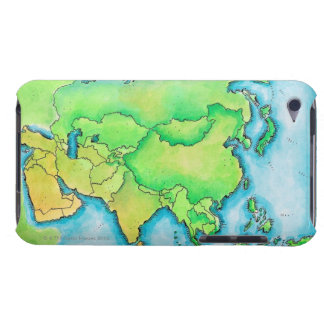 アジアの地図 Case-Mate iPod TOUCH ケース
