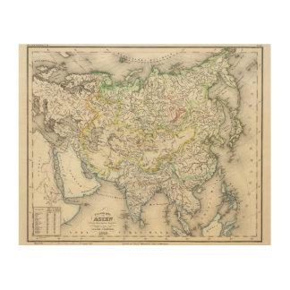 アジアの川 ウッドウォールアート