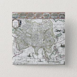 アジアのnoviterのdelineata 1617年 5.1cm 正方形バッジ
