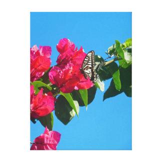 アジアアゲハチョウの蝶 キャンバスプリント