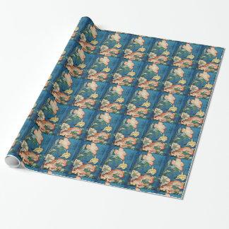 アジアシャクヤクの包装紙 ラッピングペーパー