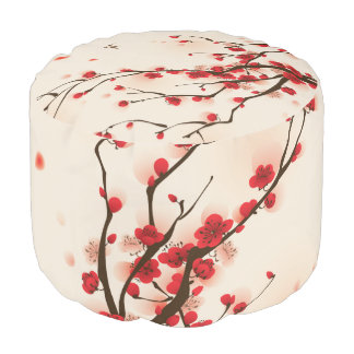 アジアスタイルの絵画、春のプラム花 プーフ