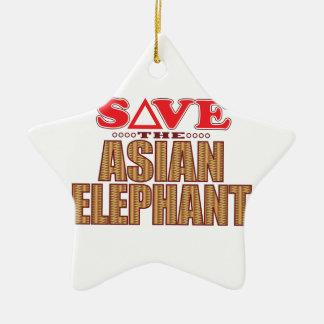 アジアゾウの保存 セラミックオーナメント