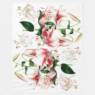 アジアユリによっては花のフリースブランケットが開花します フリースブランケット