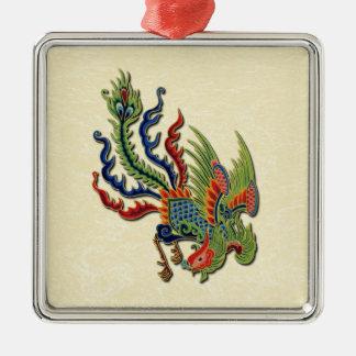 アジア入れ墨の豊かな孔雀の記号 メタルオーナメント