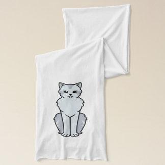 アジア半長髪の猫の漫画 スカーフ