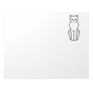 アジア半長髪の猫の漫画 ノートパッド
