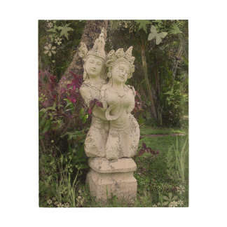 アジア彫像: 恋人1 ウッドウォールアート
