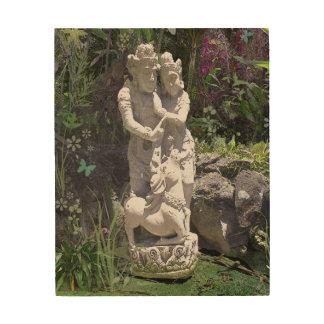 アジア彫像: 恋人3 ウッドウォールアート