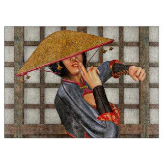 アジア戦いの女性 カッティングボード