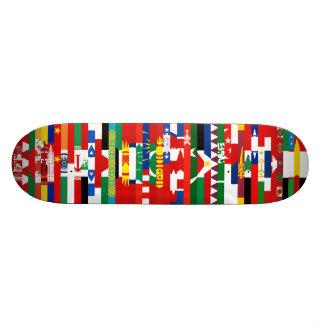 アジア旗のスケートボード スケボーデッキ