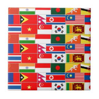 アジア旗 タイル
